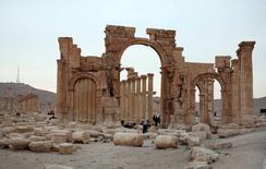 Cidade histórica de Palmira, em foto de arquivo.   14/04/2007   REUTERS/Nour Fourat