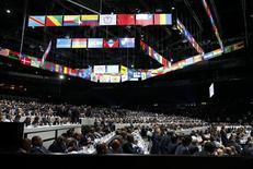 Vista geral do Congresso da Fifa, em Zurique.  29/05/2015         REUTERS/Ruben Sprich