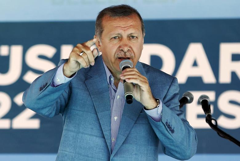 Turkey's President Tayyip Erdogan speaks during an opening ceremony in Istanbul, Turkey, May 26, 2015. REUTERS/Murad Sezer