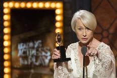 Atriz britânica Helen Mirren na cerimônia dos prêmios Tony, em Nova York. 07/06/2015  REUTERS/Lucas Jackson