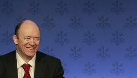 John Cryan addresses a news conference in Zurich in this February 8, 2011 file picture.  REUTERS/Arnd Wiegmann