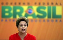 Presidente Dilma Rousseff durante evento no Palácio do Planalto, em Brasília. 09/06/2015 REUTERS/Bruno Domingos