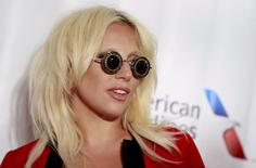 Lady Gaga poses on the red carpet before the Songwriters Hall of Fame ceremony in New York June 18, 2015.  REUTERS/Shannon Stapleton