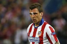 Atacante croata Mario Mandzukic durante partida contra o Real Madrid pela Liga dos Campeões. 14/04/15      Reuters / Juan Medina
