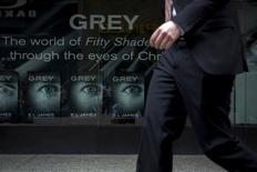 """Publicidade do livro """"Grey"""" num livraria em Nova York, nos Estados Unidos. 18/06/2015 REUTERS/Brendan McDermid"""