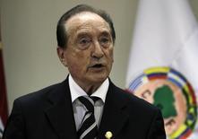 Ex-presidente da Conmebol Figueredo concede entrevista em Assunção.  30/4/2013.  REUTERS/Jorge Adorno