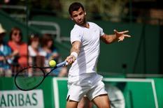 Tennis - BNP Paribas Tennis Classic - The Hurlingham Club, London  - 24/6/15 Bulgaria's Grigor Dimitrov in action Action Images via Reuters / Tony O'Brien Livepic