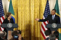 Dilma e Obama na Casa Branca.  30/06/2015 REUTERS/Kevin Lamarque