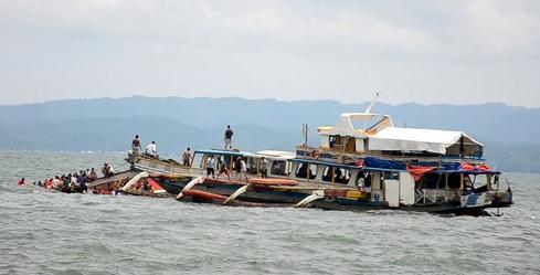 Philippines ferry capsizes