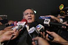Presidente do Senado, Renan Calheiros, dá entrevista a jornalistas em Brasília. 04/03/2015 REUTERS/Ueslei Marcelino