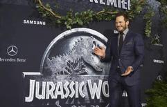 """Ator Chris Pratt em lançamento de """"Jurassic World"""" em Hollywood.  9/6/2015.  REUTERS/Mario Anzuoni"""