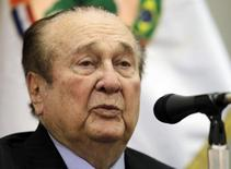 Ex-presidente da Conmebol Nicolás Leoz durante evento em Assunção.  23/4/2013.   REUTERS/Jorge Adorno
