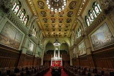 A view shows the Senate chamber on Parliament Hill in Ottawa, Canada July 24, 2015. REUTERS/Chris Wattie