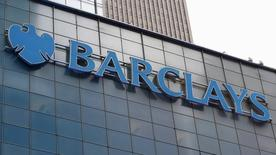 A Barclays sign is seen on the exterior of the Barclays U.S. Corporate headquarters in the Manhattan borough of New York City, May 20, 2015.  REUTERS/Mike Segar -
