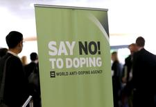 Participants talk before the start of the World Anti-Doping Agency (WADA) Symposium for Anti-Doping Organizations in Lausanne, in this March 24, 2015 file photo.  REUTERS/Denis Balibouse/Files