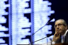 Presidente da Câmara dos Deputados, Eduardo Cunha, durante sessão plenária em Brasília. 06/08/2015 REUTERS/Ueslei Marcelino