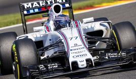 Williams Formula One driver Valtteri Bottas of Finland steers his car during the qualifying session of the Belgian F1 Grand Prix in Spa-Francorchamps, Belgium, August 22, 2015. REUTERS/Michael Kooren