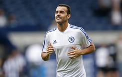 Pedro durante partida contra o West Bromwich Albion, na Inglaterra.   23/8/2015 Action Images via Reuters / Carl Recine Livepic