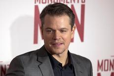 Ator Matt Damon chega a um evento em Londres. 11/02/2014 REUTERS/Neil Hall