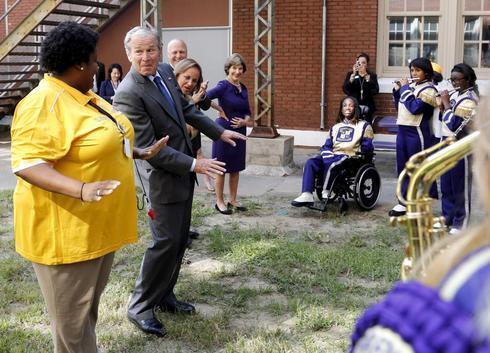 Presidential visits on Katrina anniversary