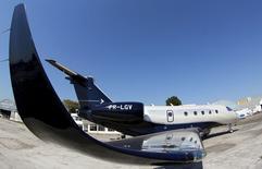 Legacy 450, da Embraer, é apresentado em feira de aviação em São Paulo. 07/08/2015. REUTERS/Paulo Whitaker
