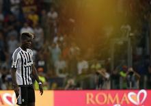 Meia da Juventus Paul Pogba após partida contra a Roma, na Itália.  30/08/2015   REUTERS/Max Rossi