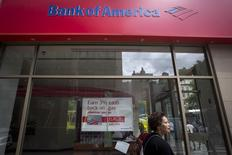 A Bank Of America sign  is pictured in the Manhattan borough of New York August 21, 2014.   REUTERS/Carlo Allegri