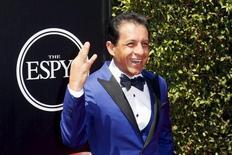 Jockey Victor Espinoza arrives for the 2015 ESPY Awards in Los Angeles, California July 15, 2015.  REUTERS/Danny Moloshok