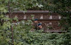 Soldiers inspect a site in an area where a Nazi train is believed to be at, in Walbrzych, southwestern Poland September 4, 2015. REUTERS/Kacper Pempel