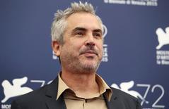 Diretor mexicano Cuarón no Festival de Veneza.  2/9/2015. REUTERS/Stefano Rellandini