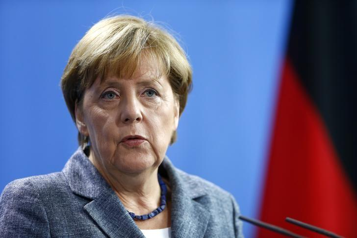 German Chancellor Angela Merkel addresses a news conference at the chancellery in Berlin, Germany September 15, 2015. REUTERS/Hannibal Hanschke