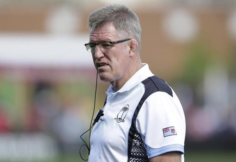 Fiji head coach John McKee. Action Images via Reuters / Henry Browne