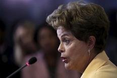 Presidente Dilma Rousseff durante entrevista no Palácio do Planato, em Brasília.  02/09/2015    REUTERS/Ueslei Marcelino