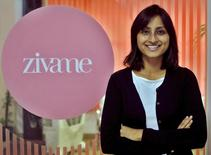 Richa Kar, founder and chief executive of Zivame, poses inside her office in Bengaluru, India, September 10, 2015. REUTERS/Abhishek N. Chinnappa