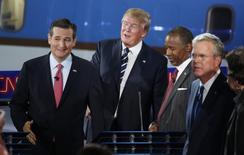 Pré-candidatos republicanos à Presidência dos EUA participam de debate na TV.  16/9/2015.   REUTERS/Lucy Nicholson