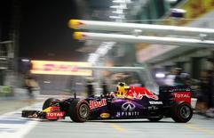 Red Bull's Daniil Kvyat during practice. Mandatory Credit: Action Images / Hoch Zwei