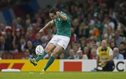 Rugby Union - Ireland v Canada - IRB Rugby World Cup 2015 Pool D - Millennium Stadium, Cardiff, Wales - 19/9/15 Ireland's Jonathan Sexton kicks a conversion Action Images via Reuters / Andrew Boyers Livepic