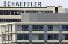 The headquarters of German company Schaeffler Group, the world's second largest ball-bearing maker is pictured in Herzogenaurach July 16, 2008.   REUTERS/Michaela Rehle