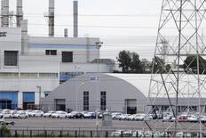 La planta de manufactura de Volkswagen en Puebla, cerca de Ciudad de México, 21 de septiembre de 2015. México está analizando las emisiones de los autos de la armadora Volkswagen en el país para observar si existe un incumplimiento similar al ocurrido en Estados Unidos, que desató el peor escándalo en la historia de la firma alemana, dijo el miércoles el secretario del medio ambiente, Rafael Pacchiano. REUTERS/Imelda Medina
