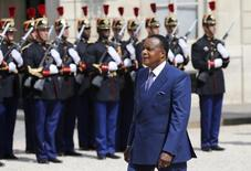 Congo's Republic President Denis Sassou-Nguesso arrives for a meeting at the Elysee Palace in Paris, France, July 7, 2015. REUTERS/Pascal Rossignol