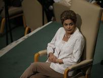 Presidente Dilma Rousseff na Assembleia-Geral da ONU, em Nova York.  28/09/2015    REUTERS/Carlo Allegri