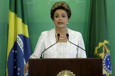 Presidente Dilma Rousseff anuncia reforma ministerial em cerimônia no Planalto. 02/12/2015 REUTERS/Ueslei Marcelino