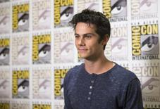 "Cast member Dylan O'Brien poses at a press line for ""The Maze Runner"" during the 2014 Comic-Con International Convention in San Diego, California July 25, 2014.  REUTERS/Mario Anzuoni"