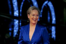 """Actress Meryl Streep arrives for the Gala screening of the film """"Suffragette"""" for the opening night of the British Film Institute (BFI) Film Festival at Leicester Square in London October 7, 2015. REUTERS/Luke MacGregor"""