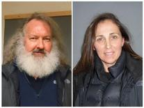 A combination photo shows U.S. actor Randy Quaid (L) and his wife Evi after being arrested at the U.S. Border crossing from Canada at Highgate Port Of Entry, Vermont on October 9, 2015 in this photo released by Vermont State Police on October 10, 2015. REUTERS/Vermont State Police/Handout