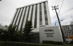 La sede de FEMSA en Monterrey, 11 de enero de 2010. La embotelladora mexicana Coca-Cola FEMSA (KOF), la mayor de la popular marca en el mundo, reportó el miércoles una caída del 40.5 por ciento interanual en su utilidad neta del tercer trimestre por menores ingresos, mayores impuestos y la volatilidad de las monedas en los países donde opera. REUTERS/Tomas Bravo