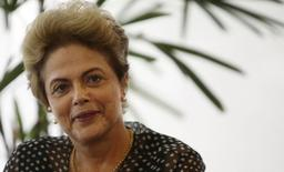 Presidente Dilma Rousseff no Palácio do Planalto, em Brasília.   13/10/2015     REUTERS/Adriano Machado