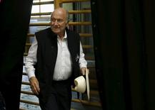 """FIFA President Sepp Blatter arrives for a news conference aside of the so-called """"Sepp Blatter tournament"""" in Blatter's home-town Ulrichen, Switzerland, August 22, 2015. REUTERS/Denis Balibouse"""