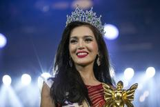 Trixie Maristela of Philippines smiles after she was crowned winner of the Miss International Queen 2015 transgender/transsexual beauty pageant in Pattaya, Thailand, November 6, 2015.REUTERS/Athit Perawongmetha