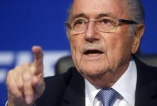 Presidente da Fifa Blatter concede entrevista em Zurique.  20/7/2015.      REUTERS/Arnd Wiegmann